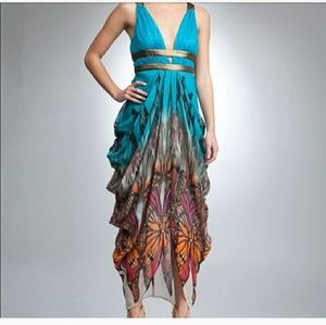 Bebe butterfly maxi dress